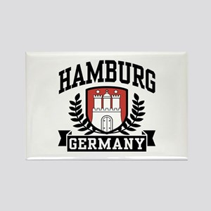 Hamburg Germany Rectangle Magnet