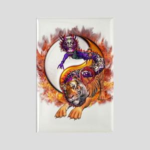 Dragon Tiger Yin Yang Rectangle Magnet