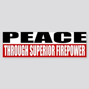 PEACE Sticker (Bumper)