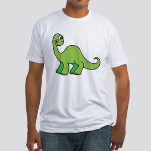 Green Dinosaur Fitted T-Shirt