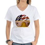 Liberty Women's V-Neck T-Shirt