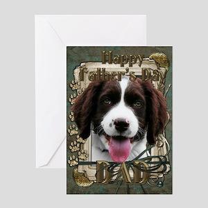 Stone Paws Springer Spaniel Greeting Card