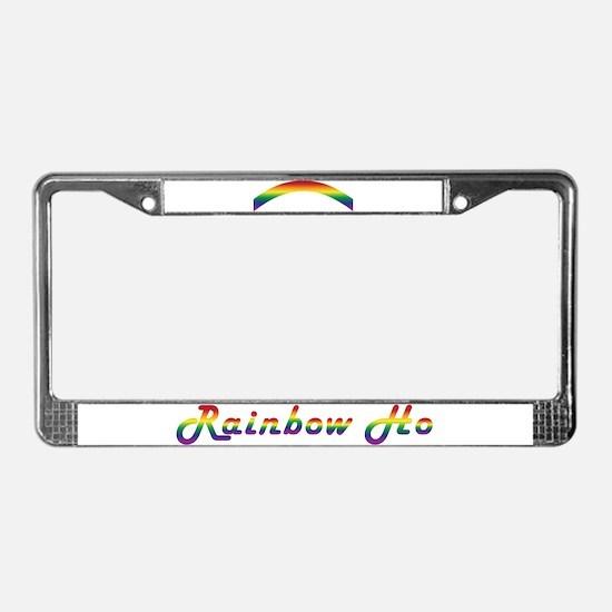 Rainbow Ho License Plate Frame