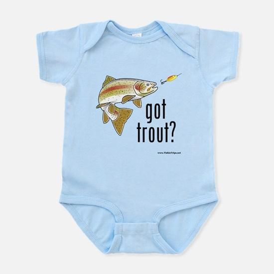 """""""Got Trout?"""" Infant Bodysuit"""