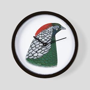 Lady Amherst Pheasant Head Wall Clock