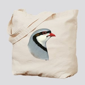 Chukar Partridge Head Tote Bag