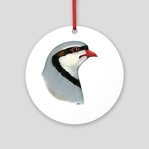 Chukar Partridge Head Ornament (Round)