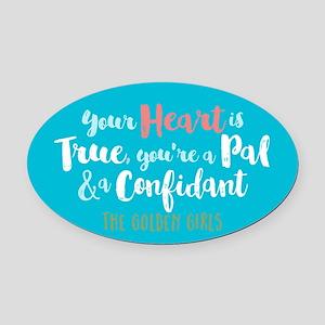 GG Heart Is True Oval Car Magnet