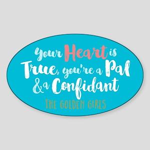 GG Heart Is True Sticker