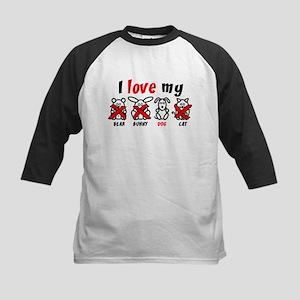 I Love My Dog XXX Kids Baseball Jersey