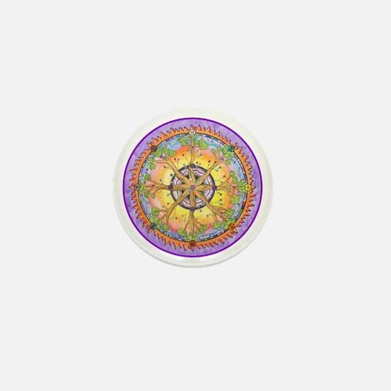 Sundance Tree II Mandala Mini Button