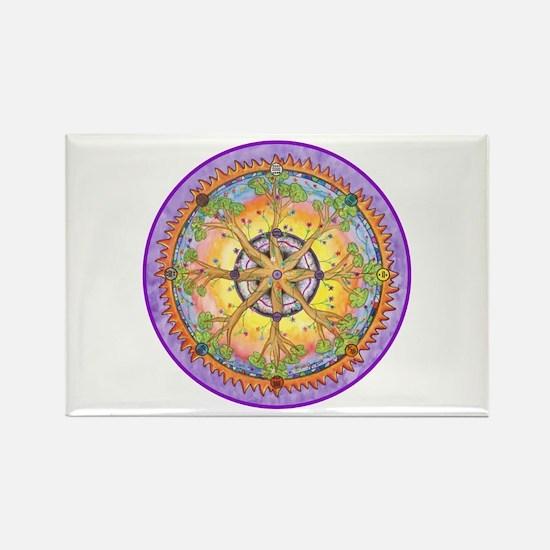 Sundance Tree II Mandala Rectangle Magnet