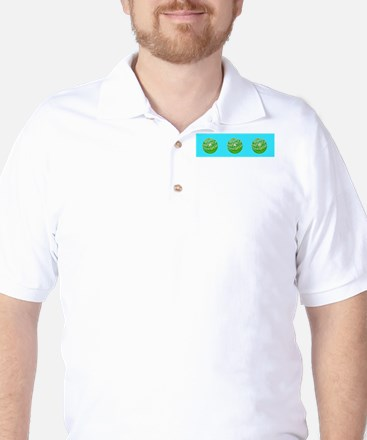 Dad Golf Ball Father's Day Collared Golf Shirt