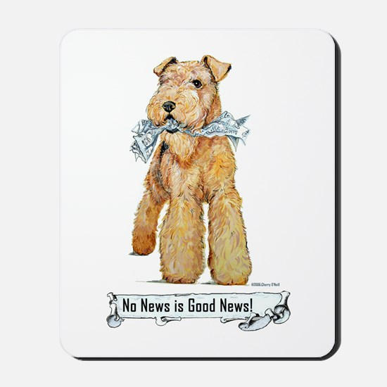 Airedale Good News! Mousepad