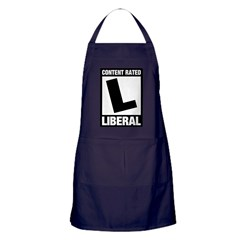 Content Rated Liberal Apron (dark)