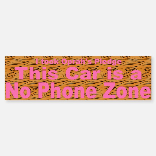 No Phone Zone Sticker (Bumper)