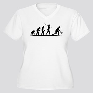 Racquetball Women's Plus Size V-Neck T-Shirt