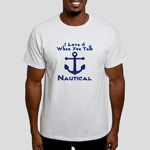 Navy Nautical Love Anchor Light T-Shirt