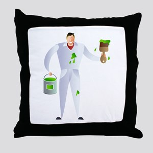 painter and decorator Throw Pillow