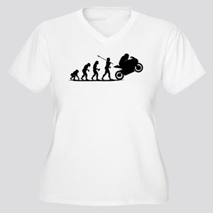 Bike Racing Women's Plus Size V-Neck T-Shirt