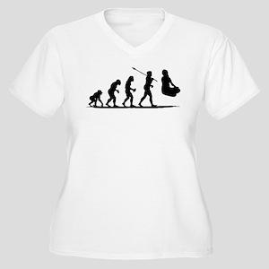 Siddha Women's Plus Size V-Neck T-Shirt