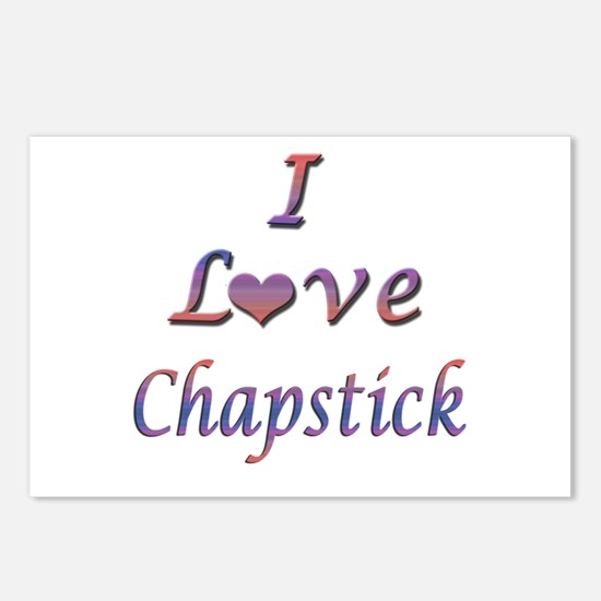 I Love Chapstick Postcards (Package of 8)