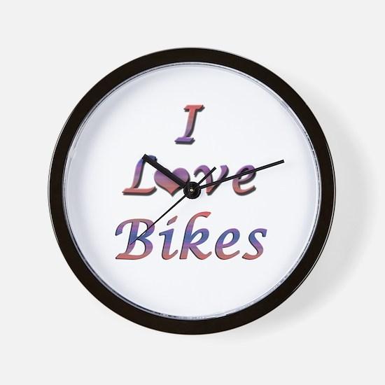 I Love Bikes Wall Clock