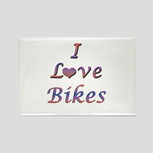 I Love Bikes Rectangle Magnet