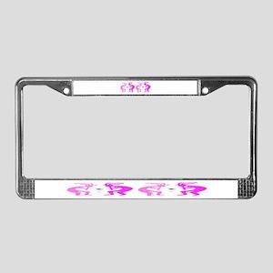 Kokopelli Flower License Plate Frame