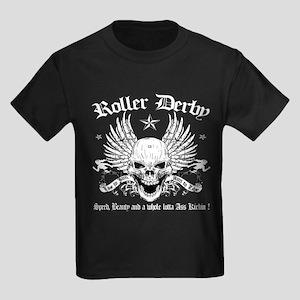 ROLLER DERBY -13 Kids Dark T-Shirt
