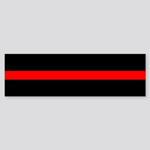 Thin Red Line Sticker (Bumper)