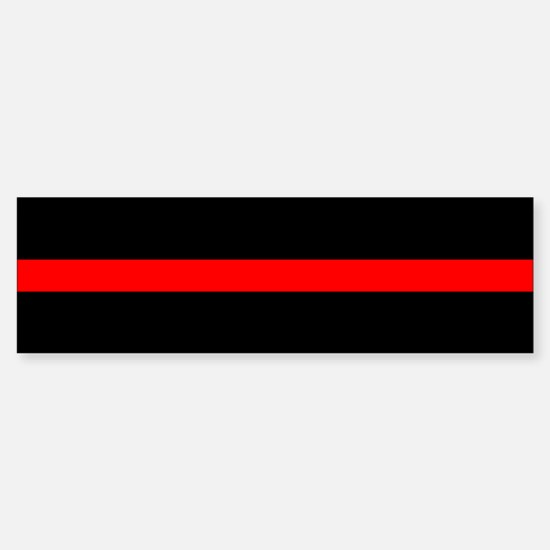 Thin Red Line Sticker (Bumper)