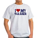 I heart love my Soldier Army Light T-Shirt