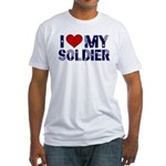 I heart love my Soldier Army Fitted T-Shirt
