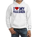 I heart love my Soldier Army Hooded Sweatshirt