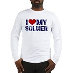 I heart love my Soldier Army Long Sleeve T-Shirt