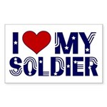 I heart love my Soldier Army Rectangle Sticker