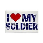I heart love my Soldier Army Rectangle Magnet (10