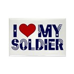 I heart love my Soldier Army Rectangle Magnet