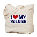 I heart love my Soldier Army Tote Bag
