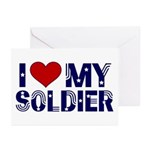 I heart love my Soldier Army Greeting Cards (Packa