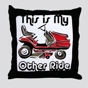 Mower My Other Ride Throw Pillow