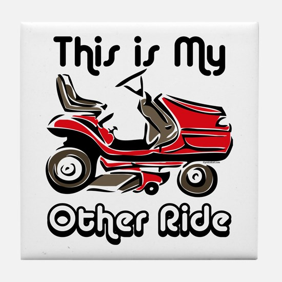 Mower My Other Ride Tile Coaster