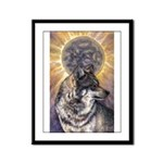 Dark Sun Framed Panel Print