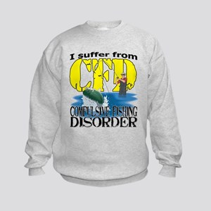 CFD - Compulsive Fishing Disorder Kids Sweatshirt