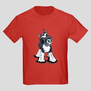 Playful Schnauzer Kids Dark T-Shirt
