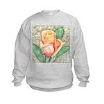 Peach Rose Watercolor Kids Sweatshirt