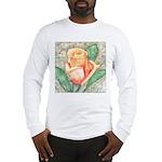 Peach Rose Watercolor Long Sleeve T-Shirt