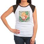 Peach Rose Watercolor Women's Cap Sleeve T-Shirt