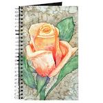 Peach Rose Watercolor Journal